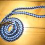Leine mit Handschlaufe flieder/dunkelblau