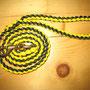 Leine mit Handschlaufe gelb/dunkelgrün