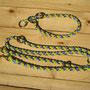 Halsband-Leinen-Set gelb/lime/lila/flieder