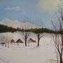 ARNOUX Endormis sous la neige-Pastel