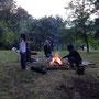 Das rituelle Feuer.