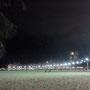 夜のコパカバーナ海岸。 随分安全になりました。本当はもっと美しかったのですが。。。携帯カメラではこれが限界でした...!