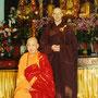 Großmeister Jy Din Shakya, der Gründer des Xu Yun Chan Yuen, mit seinem westlichen Schüler und jetzigen Abt Chuan Zhi Shakya