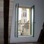 Blick auf den Kirchturm von Lalinde  (Foto odermatt architectes Lalinde)