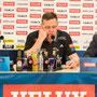 Sein Gesicht spricht Bände: Alfred Gislason auf der Pressekonferenz nach der knappen Niederlage