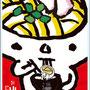 ツルポカード02立食(ポストカード)