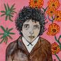 Bob Dylan - acryl op linnen - 40 x 40 cm