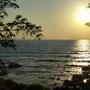 Es ist noch ein bisschen Zeit, bis die Sonne im Meer versinkt