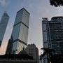Bank of China und HSBC in der Abenddämmerung