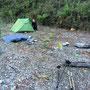 Am nächsten Morgen in unserem Wildcamp-Paradies