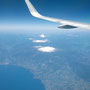 Flug entlang Chile