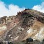 Steil geht es im Vulkanfeld bergauf.