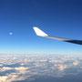 Auf dem Rückflug nach Hongkong und von da aus weiter nach Melbourne