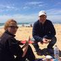 ...am Strand von Torquay