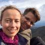 Heike und ich auf dem Gipfel