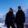 Zwischen uns der Everest und rechts der Nuptse
