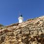 Leuchtturm vom Strand zur Bass Strait aus