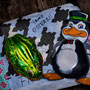 Überraschung für Pinguin und Frosch