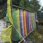 Gebetsflaggen in der Nähe des Camps