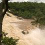 Je nach Jahreszeit schwankt der Wasserstand extrem