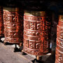 Gebetsmühlen an der vermutlich ältesten Monastery in der Khumbu Region: Pangboche