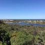 Eine letzte Aussicht auf Lakes Entrance