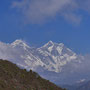 Mt. Everest (8848 m) und Lhotse (8516 m)