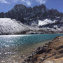 Der Mt. Pharilapche (6017 m) thront über dem Gokyo Lake