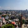 Erster Blick über Kathmandu von unserem Hotel aus