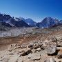 Unten im Tal liegt Gorak Shep