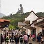 Verkaufsbuden auf dem Weg zum Buddha