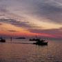 Direkt mit einem wunderbaren Sonnenuntergang