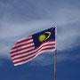 Die malaysische Flagge erinnert erstaunlich stark an die amerikanische...