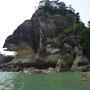 ...vorbei an beeindruckenden Felsen
