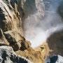 Blow Hole an den Pancake Rocks - es blowed nur ein wenig...