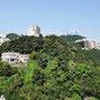 Grüner Hügel über Hongkong