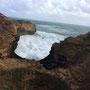 Bei The Grotto - das Meer gleicht einer Waschmaschine