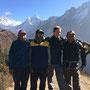 Martin mit unseren Guides Chandra, Biru und Juddha