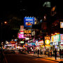 Lichter in den Straßen von Kowloon