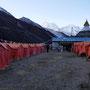 Unsere Campsite in Dingboche