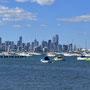 Grandioser Blick von Williamstown auf die Skyline von Melbourne
