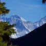 Letzter Blick auf Everest und Lhotse