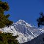 König der Berge: unsere erster Blick auf den Everest
