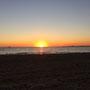 Die Sonne versinkt in der Bay