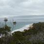Wie üblich ist der Wellengang in der Bay deutlich geringer