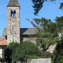 Die Kirche SS. Quirico e Giulitta im Ortsteil Villa von Dervio.