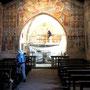 Wir haben Glück, die Kriche steht offen weil die Fresken restauriert werden.
