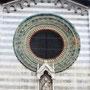 die Rosette oberhalb des Kirchenportals von S. Nazaro e Celso.