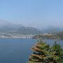 Von hier sehen wir ein Stück der Halbinsel Olgiasca, zu der wir wandern wollen.