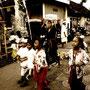 Kids, religious ceremony, Padangbai